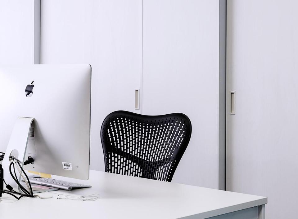 an ergonomic desk setup