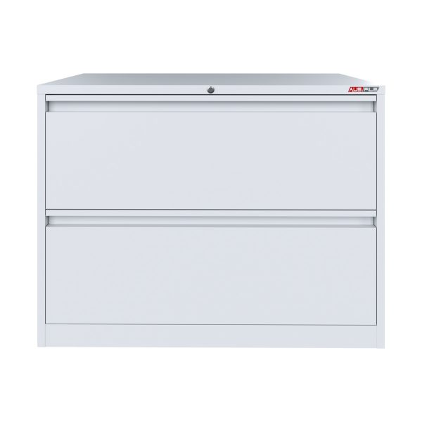 white 2 drawer lateral filing cabinet