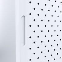 white sliding door cabinet handle