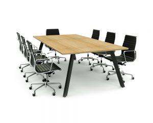 iSpace Sabre - Rectangular Meeting Table (1200 Leg)