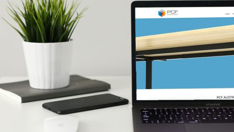 laptop with new website pcf australia