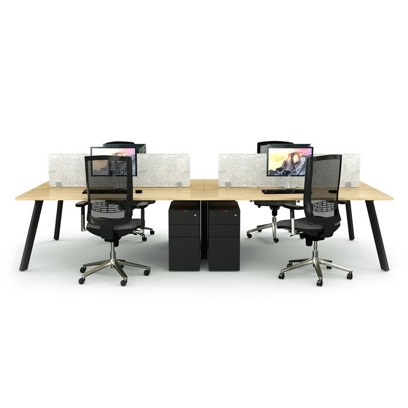 iSpace Sabre Back-to-Back Workstation